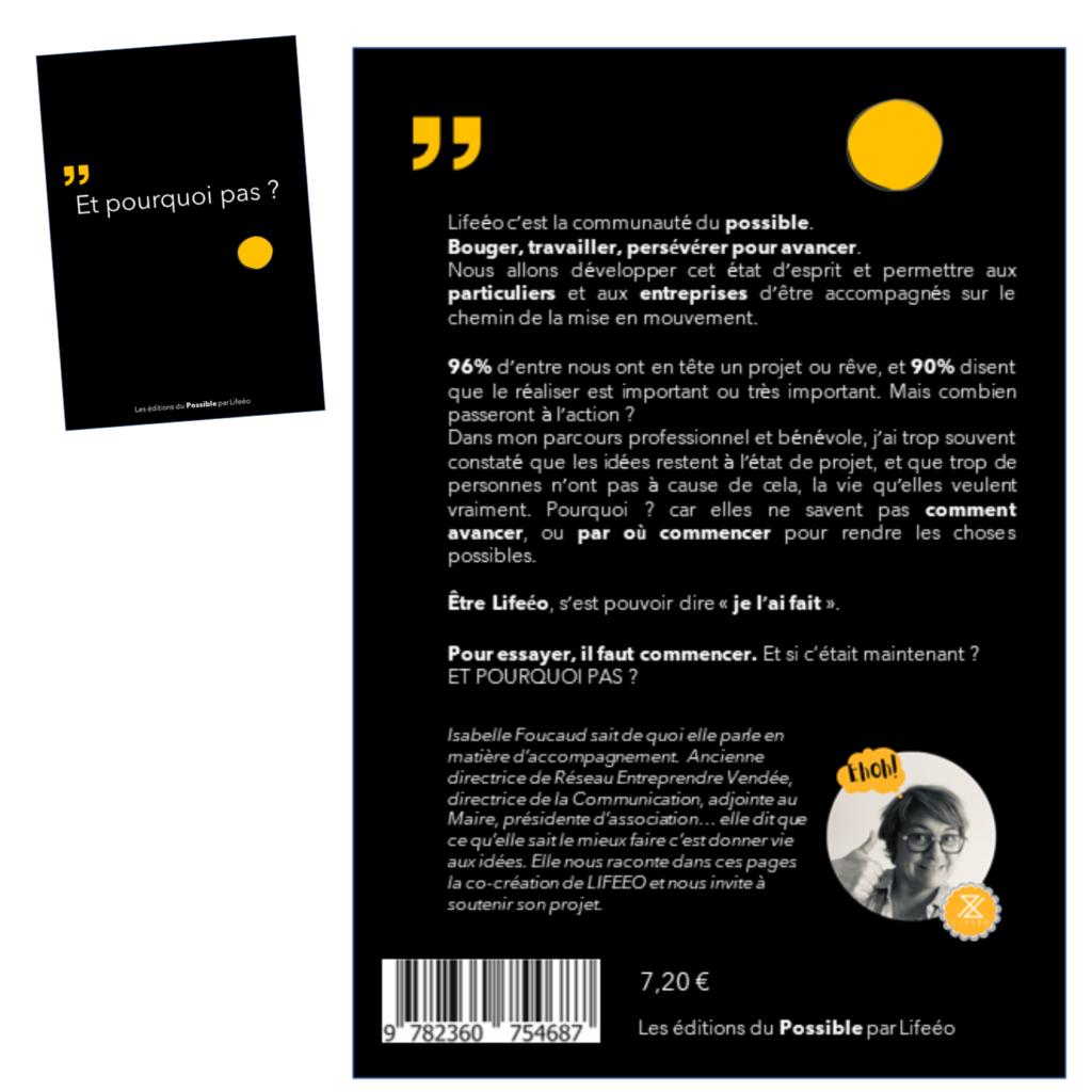 4e de couverture d'un livre fictif pour raconter qui nous sommes : LIFEEO